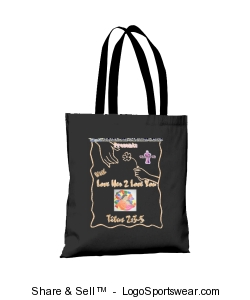Colored Handle Tote Design Zoom